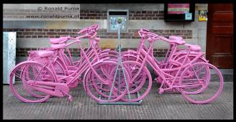 Roze fietsen.