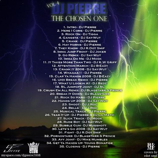 DJ PIERRE - CHOSEN ONE EDITION BACK COVER