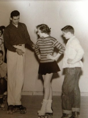 Chuck Findlay teaching roller skating in Wooster, Ohio. (Approx. 1956) Credit: Used with permission of Findlay family. Not for reproduction.