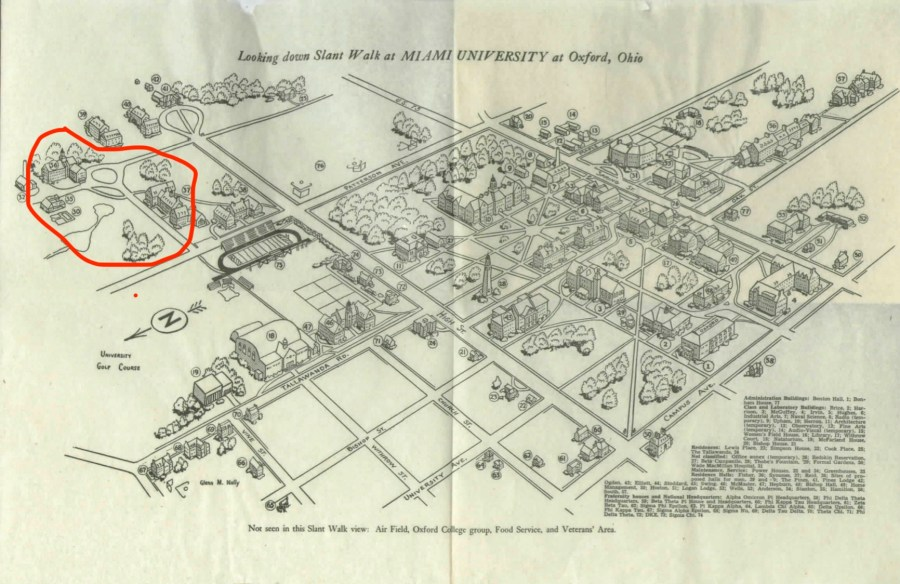 1952-53 map of Miami marked up