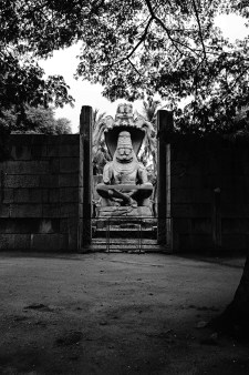 Narasimha statue. Half man, half lion.