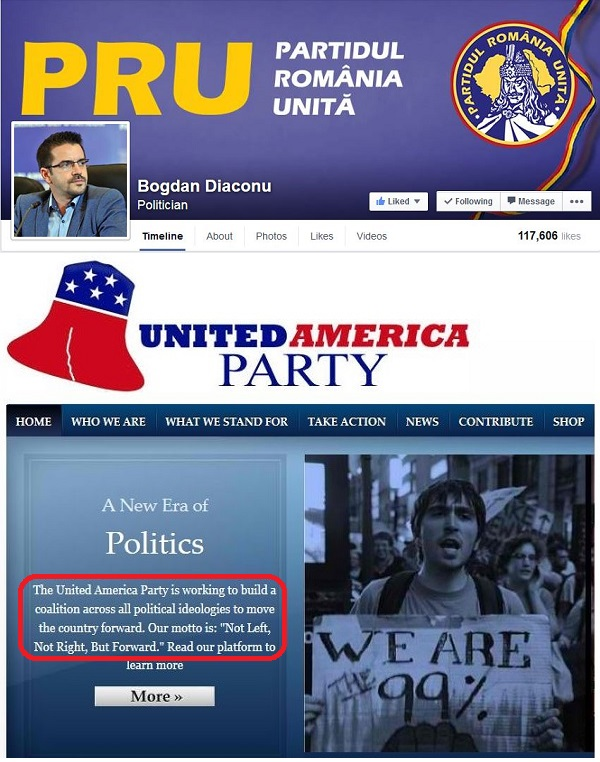 America Unita - United America Party - Romania Unita - Bogdan Diaconu
