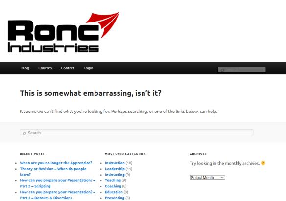 The 404 error