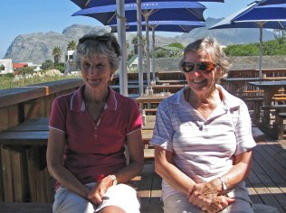 Lynette and Renee at Kleinmond