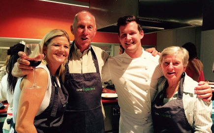 With our chef, Matt Manning