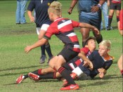The tackle that put Keagan out!