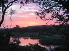 Sunset over the Breede River