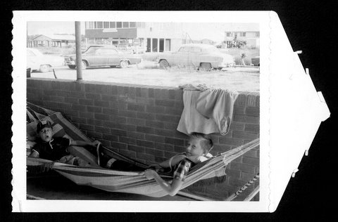 Ron (r) and Gary (l) in hammock