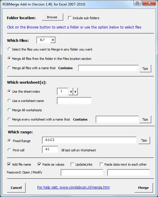 How To Merge Cells In Excel Mac : merge, cells, excel, RDBMerge,, Excel, Merge, Add-in, Windows