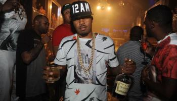"""Nas parties at LIV with an entourage that included rapper Noreaga, to celebrate the 21st anniversary of his album """"Illmatic""""."""