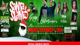 Santa Slam Flyer w/ logos