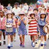 Children marching in 4th of July parade
