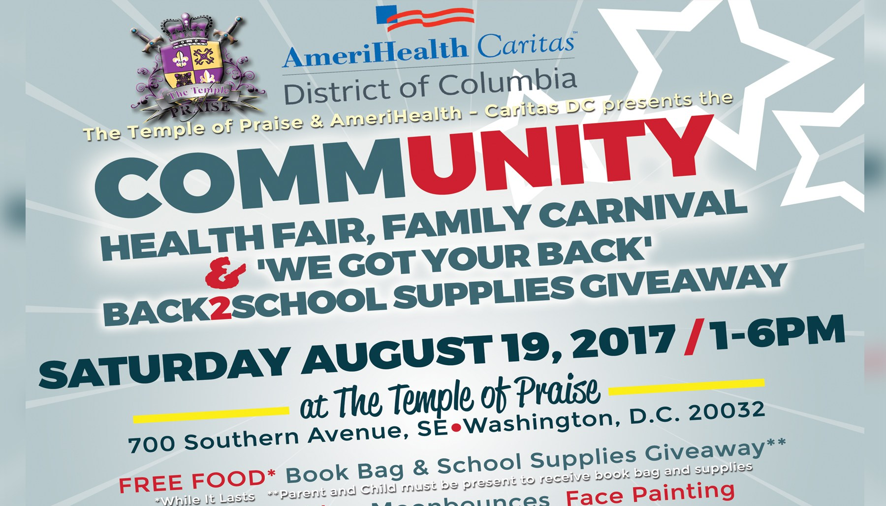 Amerihealth Caritas Community Health Fair, Carnival & More