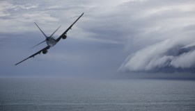 Airplane avoiding problem ahead: epic storm