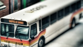 Bus On City Street
