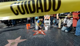Donald Trump'Hollywood Walk Of Fame Star Vandalized