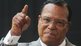 Louis Farrakhan And Ramsey Clark Hold News Conference To Criticize NATO's Involvement In Libya