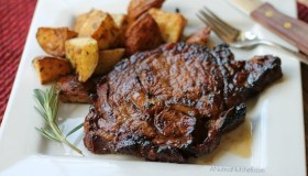 Grilled Ribeyes with Beer & Brown Sugar Marinade