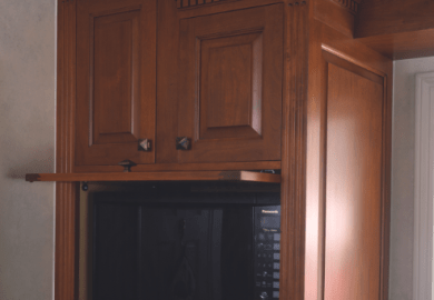 Kitchen Cabinets For Microwave