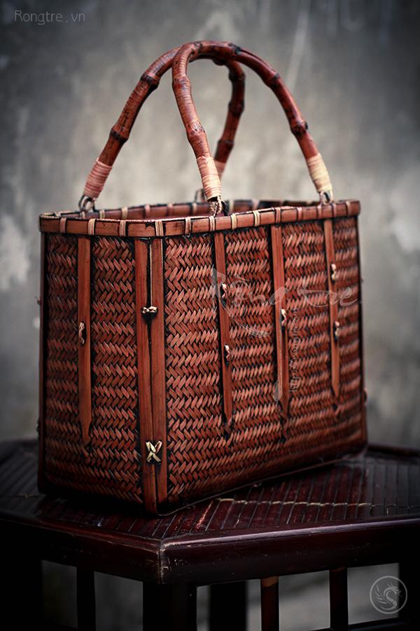Túi xách đựng trà cụ quai trúc TUI-001