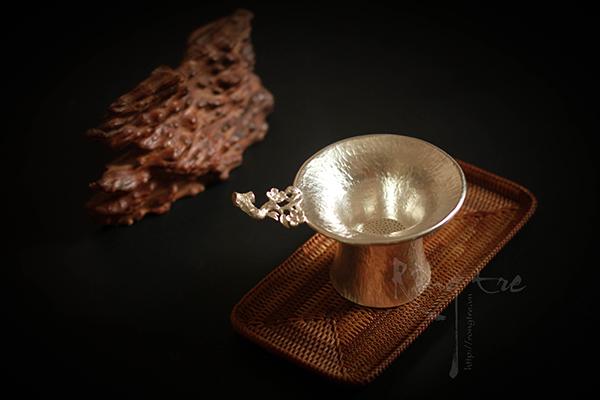 Lọc trà, lược trà hoa mai bằng Bạc