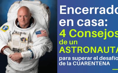 Encerrado en casa: 4 consejos de un astronauta para superar el desafío de estar en cuarentena