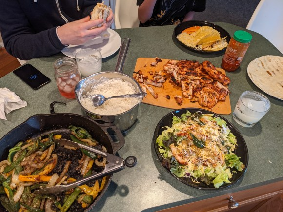 Burrito Night Dinner Table