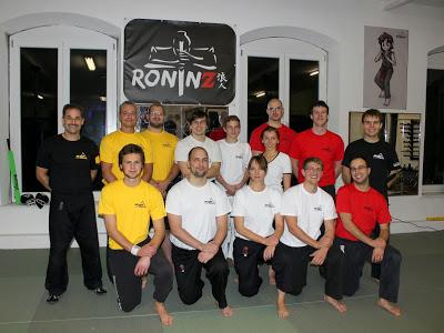 Herzlichen Glueckwunsch an alle zur bestandenen IKAEF Pruefung 30.11.2014 in RoninZ Kampfkunstschule