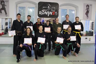Herzlichen Glueckwunsch! zur bestandenen Pruefung im Ju-Jutsu-Do 2015!