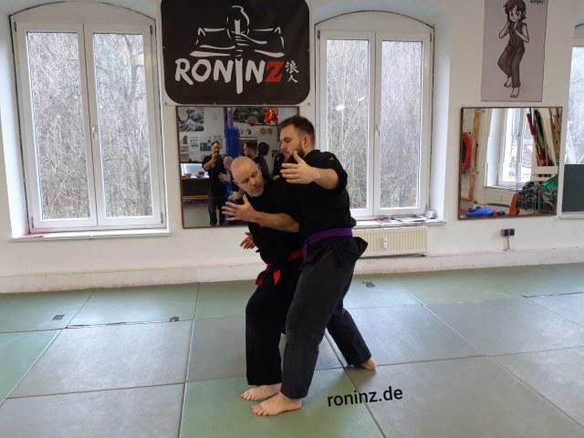 Goshindo mit Fritz Greutert im Dezember.