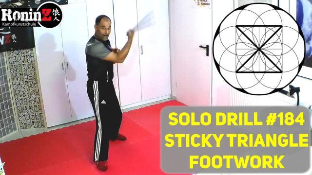 Solo Drill 184 Sticky Triangle Footwork