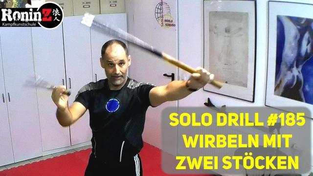 Solo Drill 185 Wirbeln mit zwei Stöcken