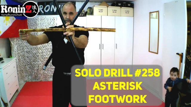 Solo Drill 258 Asterisk Footwork