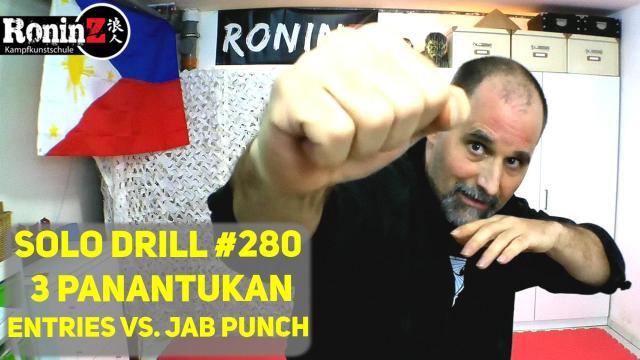 Solo Drill 280 3 Panantukan Entries vs. Jab Punch