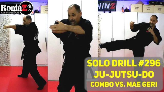 Solo Drill 296 Ju-Jutsu-Do Combo vs. Mae Geri