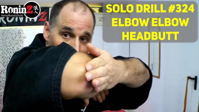 Solo Drill 324 Elbow Elbow Headbutt