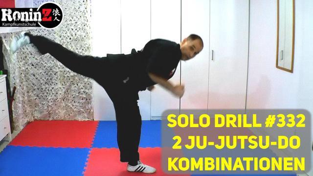 Solo Drill 332 2 Ju-Jutsu-Do Kombinationen
