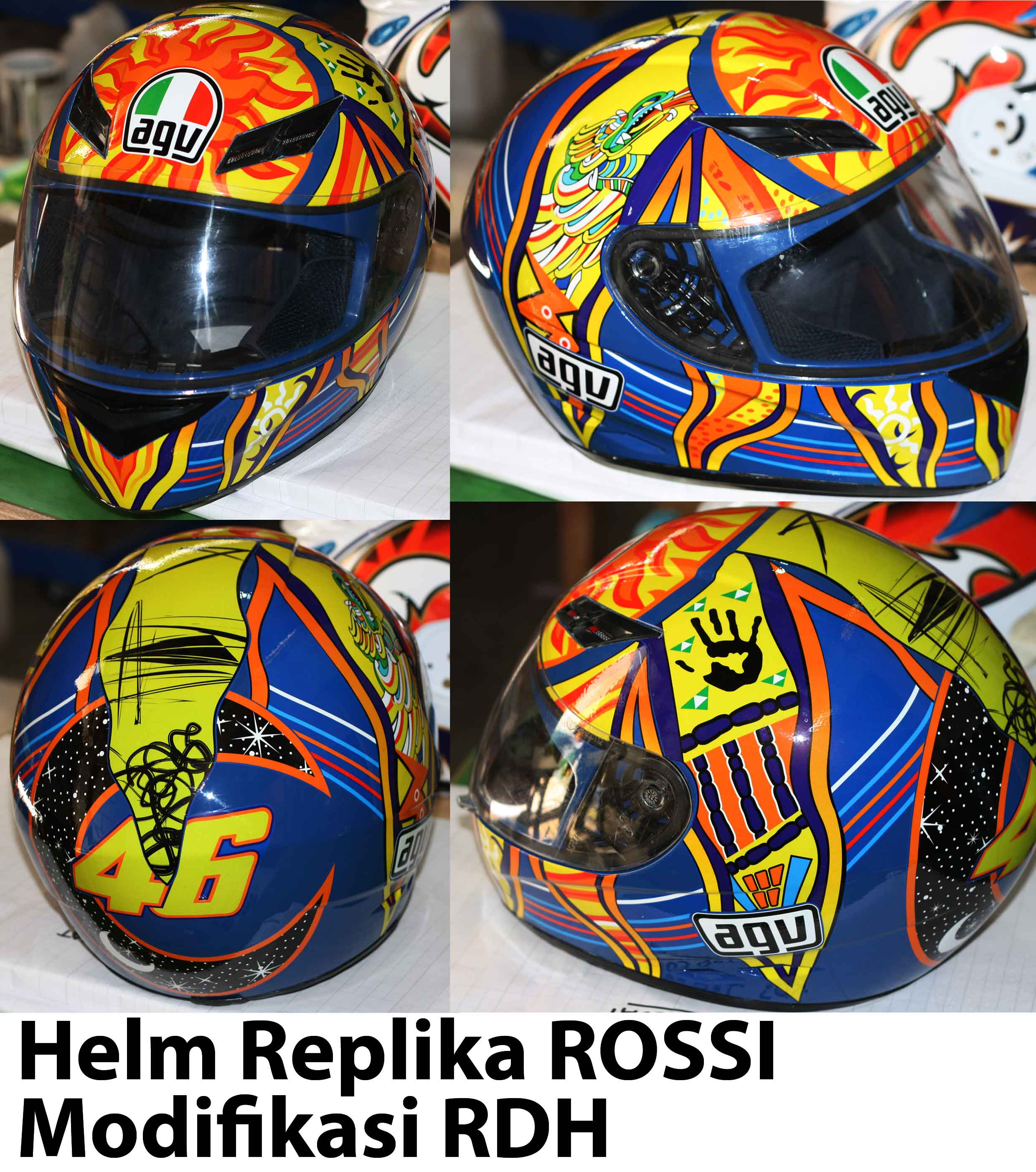 HELM REPLIKA ROSSI MATAHARI by RDH  CUSTOM HELMET FOR