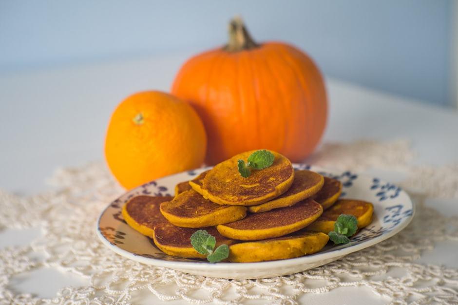 Piernikowe placuszki z dyni i pomarańczy
