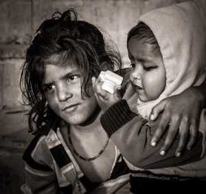 A Young Girl and her Sibling, Varanasi, India