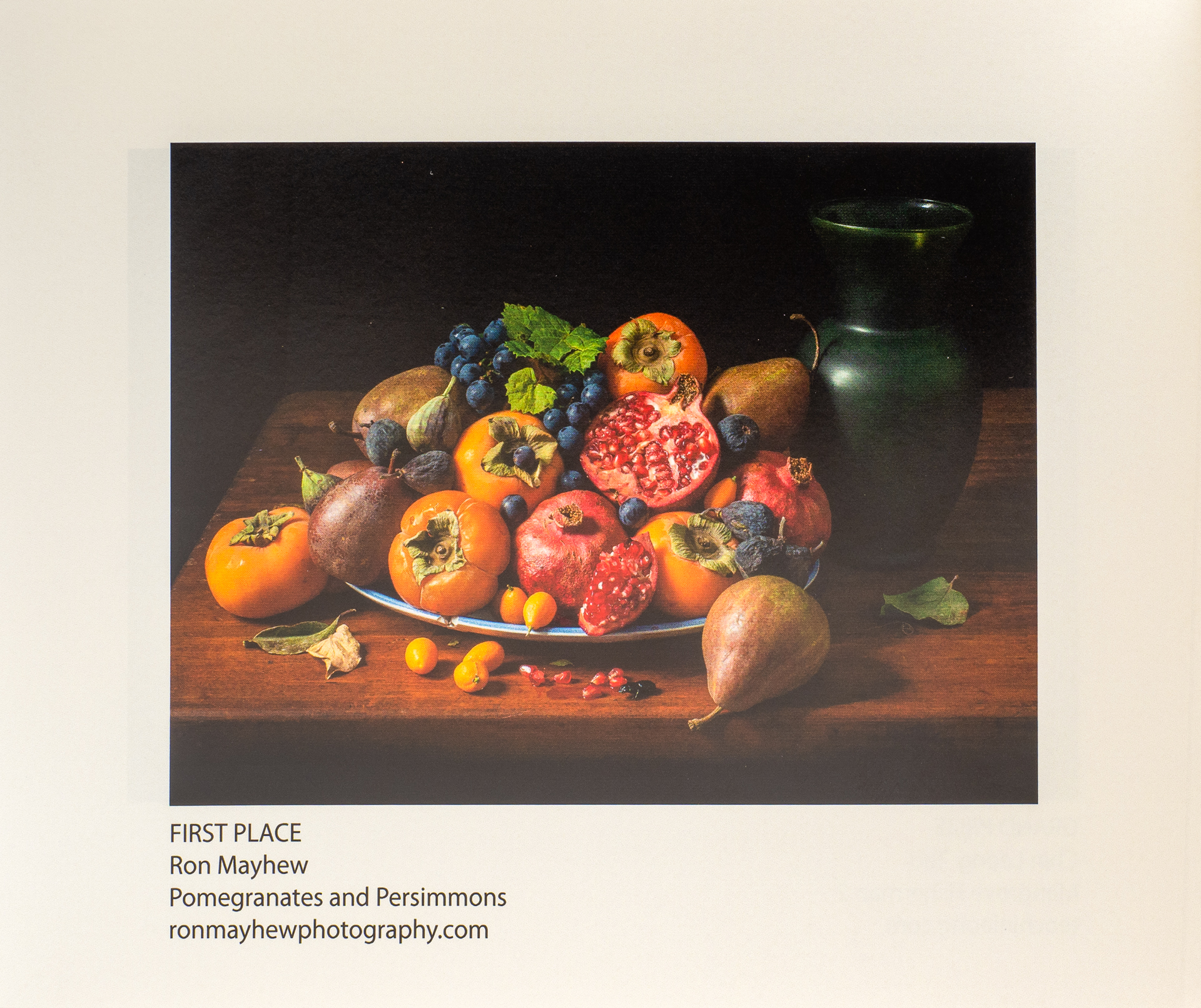 Pomegranate and Persimmons First Place award at the New York City Center for Photographic Art