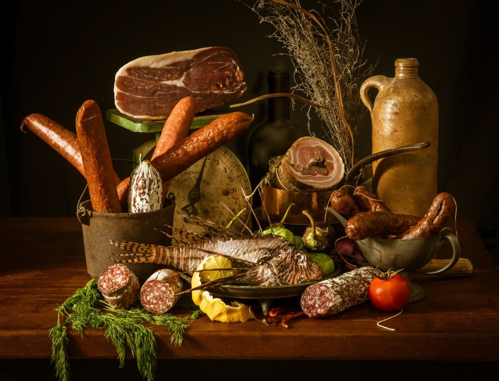 Still Life with Meat and a Fish