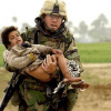iraq soldier carrying baby
