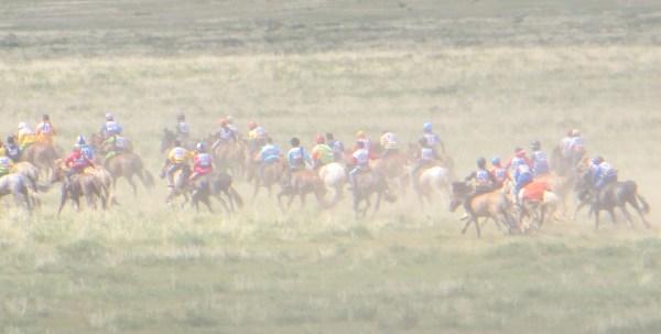 Horse races at local Naadam festival