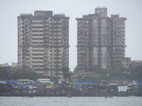 Slums surround and separate the city