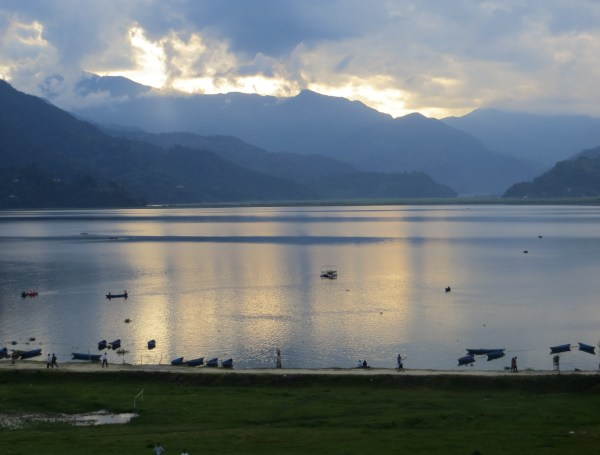 Phewa Tal, Pokhara - The view from our balcony