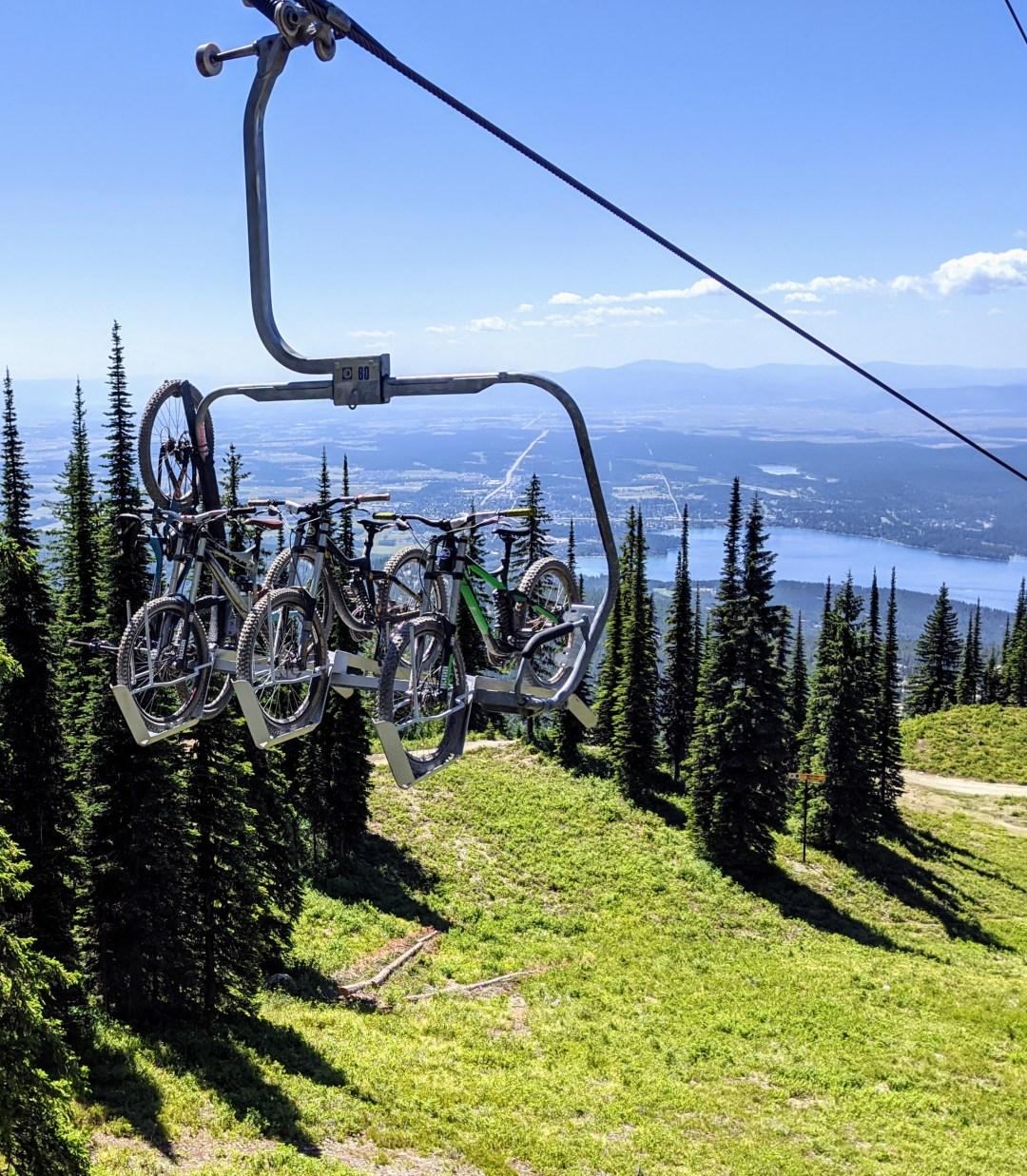 Taking gondola down Big Mountain Whitefish