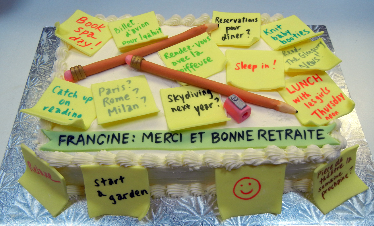Retirement Ronna S Cake Blog