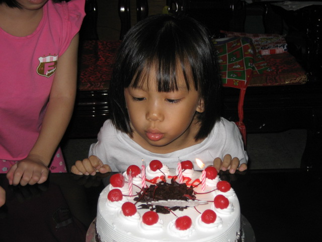Make a wish and blow the candles to make it come true.