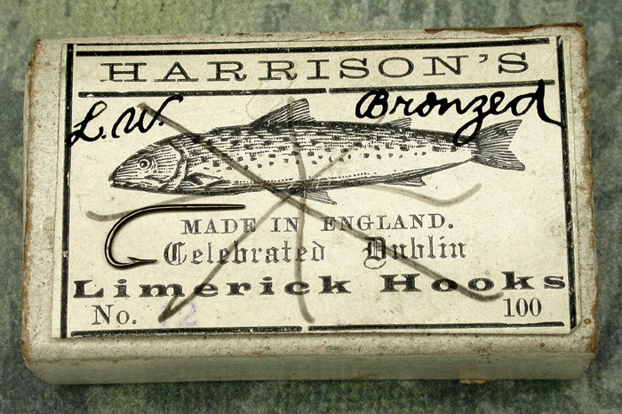 "27. Harrison's, Celebrated Dublin, Limerick, #2, bronzed, tapered, about 7/16"" long, England."